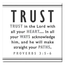 Black and White Series Magnet: Trust