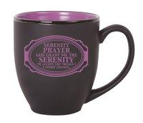 Bistro Mug: Serenity Prayer, Black With Purple