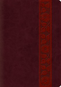 ESV Study Bible Large Print Mahogany Trellis Design (Black Letter Edition)