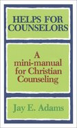 Helps For Counselors Paperback