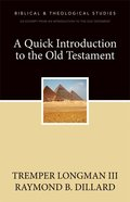 A Quick Introduction to the Old Testament eBook