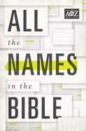 All the Names in the Bible eBook