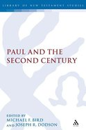 Paul and the Second Century Paperback