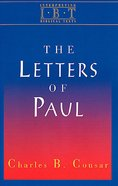 The Letters of Paul (Interpreting Biblical Texts Series) eBook
