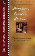 Philippians, Colossians & Philemon (Shepherd's Notes Series) eBook
