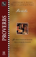 Proverbs (Shepherd's Notes Series)