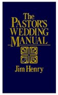 The Pastor's Wedding Manual eBook