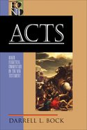 Acts (Baker Exegetical Commentary On The New Testament Series)