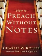 How to Preach Without Notes eBook