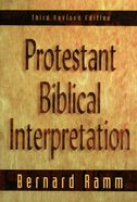 Protestant Biblical Interpretation (3rd Edition) eBook