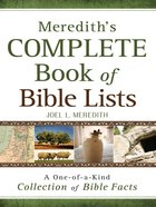 Meredith's Complete Book of Bible Lists eBook