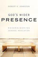 God's Wider Presence eBook