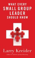 What Every Small Group Leader Should Know eBook