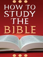 How to Study the Bible eBook