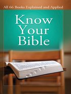 Know Your Bible Illustrated eBook