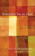 Remember You Are Dust Paperback