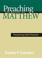 Preaching the Gospel of Matthew eBook