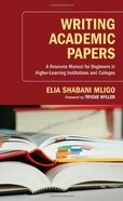 Writing Academic Papers Paperback