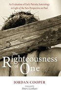 The Righteousness of One Hardback