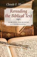 Rereading the Biblical Text Paperback
