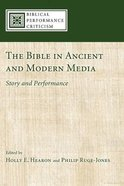 The Bible in Ancient and Modern Media eBook