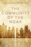 The Community of the Weak eBook