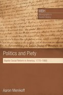 Politics and Piety Paperback