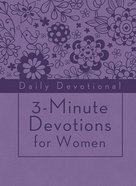 3-Minute Devotions For Women: Daily Devotional (Purple) eBook