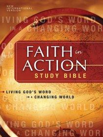 NIV Faith in Action Study Bible Black Top Grain (1984)