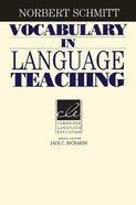 Vocabulary in Language Teaching Paperback