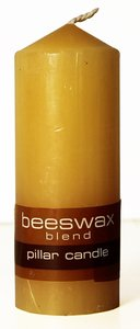 Powerlite Grain Finish Round Pillar Candle 100mm/38Mm Beeswax