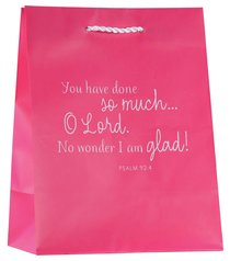 Value Gift Bag Medium: Pink (Psalm 92:4)