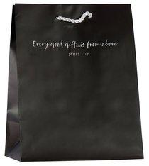 Value Gift Bag Medium: Gray (James 1:17 Kjv)