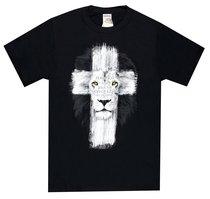 T-Shirt Lion Cross: Fear Not, Black 2x-Large