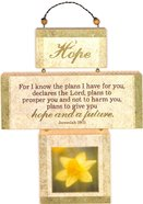 Cross Shaped Three Piece Mdf Wall Plaque: Hope, Jeremiah 29:11 (Crosswords) Plaque