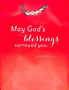 Value Gift Bag Small: Red (Colossians 4:18 Tlb) Stationery