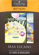 Boxed Cards Birthday: Max Lucado - God Made You on Purpose, For a Purpose