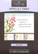 Boxed Cards Difficult Times: He is With You