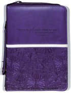 Bible Cover Medium: I Know the Plans Purple (Jeremiah 29:11) Imitation Leather