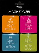 Magnetic Set of 4: Keep Calm