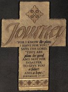 Wall Cross: Journey (26cm X 18cm) Plaque