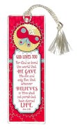 Bookmark With Tassel: God Loves You Stationery