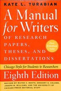 Manual For Writers of Research Papers, Theses, and Dissertations (8th Ed)