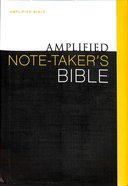 Amplified Note Taker's Bible (Black Letter Edition)