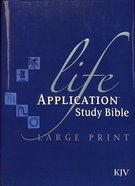KJV Life Application Study Large Print Bible Indexed (Red Letter Edition) Hardback