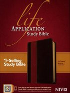 NIV Life Application Study Bible Brown/Tan (Red Letter Edition) Imitation Leather