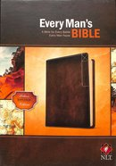 NLT Every Man's Bible Deluxe Explorer Edition Rustic Brown (Black Letter Edition) Imitation Leather