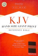 KJV Handsize Giant Print Bible Brown Terracotta Imitation Leather