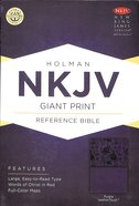 NKJV Giant Print Reference Bible Purple Premium Imitation Leather