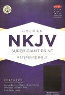NKJV Super Giant Print Reference Indexed Bible Black